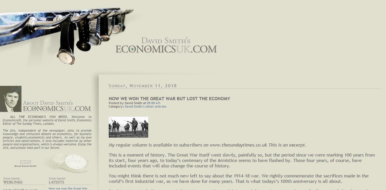 Screenshot 2018 11 17 David Smiths EconomicsUK com1 - Die 5 wichtigsten Ressourcen für Ökonomen im Internet